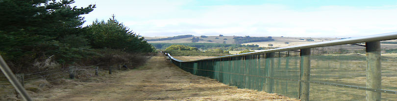 Xcluder® 'Wairakei' fence at the International Wairakei Golf Course, Taupo, New Zealand.