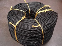 Black edging rope